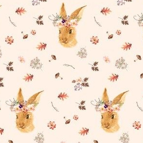 "3.5"" Autumn in the Woods Bunny - Ivory"