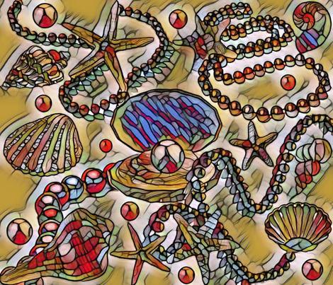 SEA JEWELS fabric by bluevelvet on Spoonflower - custom fabric
