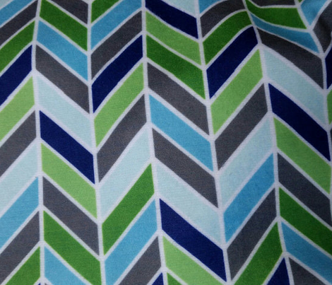Blue Green Arrow Chevron
