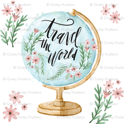 Travel the World with Flowers and Leaves