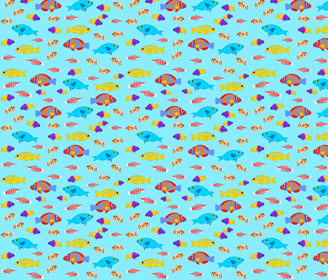 Fish Lagoon Petite 2017 fabric by wendy_sysouphat on Spoonflower - custom fabric