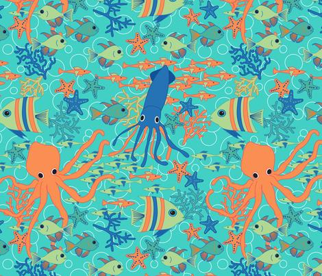 Sea Creatures fabric by laura_mooney on Spoonflower - custom fabric
