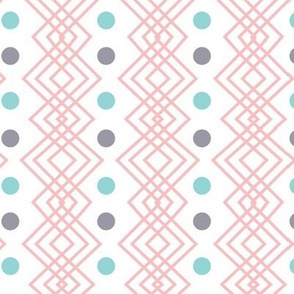 Coral Geometric Pattern