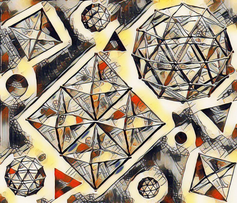 GEODESIC  ABSTRACT fabric by bluevelvet on Spoonflower - custom fabric