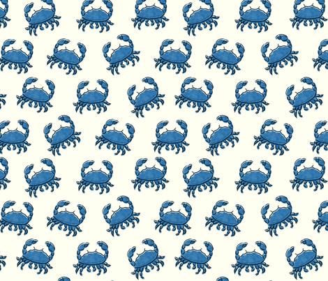 Blue Crab fabric by cherishedminky on Spoonflower - custom fabric