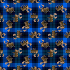 Blue Flannel Moose