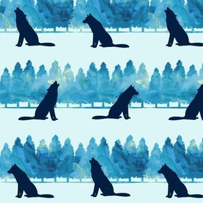 wolves -  blue
