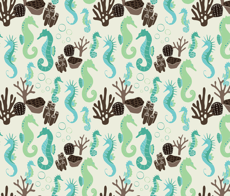 sleepyseahorse fabric by jackiejean on Spoonflower - custom fabric