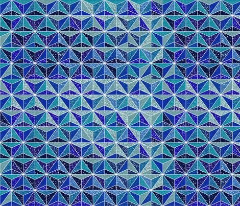 Blue Glitter Geometric fabric by mariafaithgarcia on Spoonflower - custom fabric