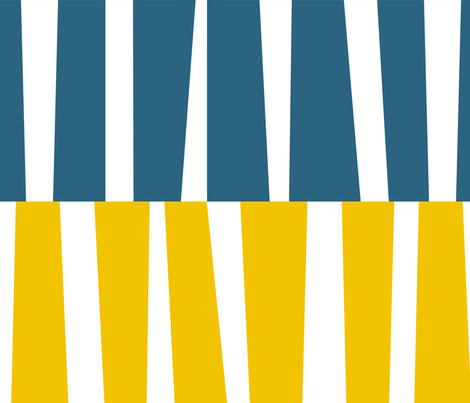 Modern Ocean: Stripes (Yellow & Blue) fabric by rbgcreations on Spoonflower - custom fabric