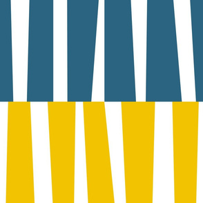 Modern Ocean: Stripes (Yellow & Blue)