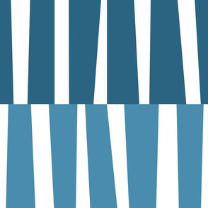 Modern Ocean: Stripes (Blue)