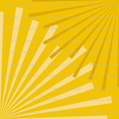 Modern Ocean: Sunburst (Yellow)