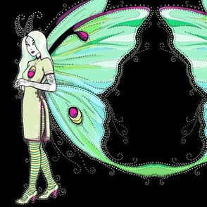 Luna moth fairy