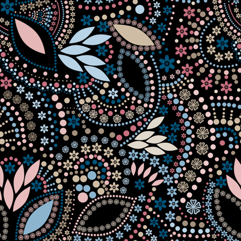 A scattering of beads . fabric by fuzzyfox on Spoonflower - custom fabric