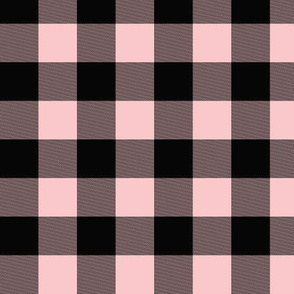 "1"" Buffalo Plaid- pink/black"