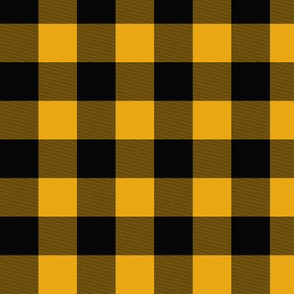 "1"" Buffalo Plaid- black and gold - ironwood"