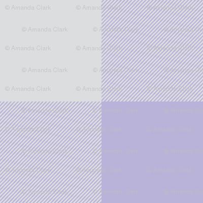 "1"" Buffalo Plaid- lilac and grey- lavender and gray"