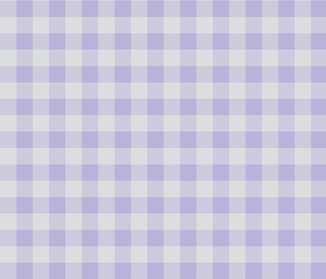 """1"""" Buffalo Plaid- lilac and grey- lavender and gray fabric by sugarpinedesign on Spoonflower - custom fabric"""