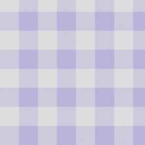 "1"" Buffalo Plaid- lilac and grey- lavender and gray"