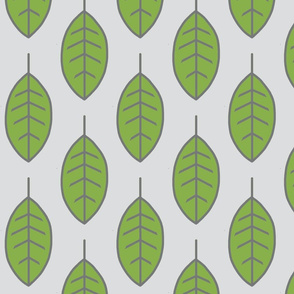 Leaves - Greenery Pantone and Grey