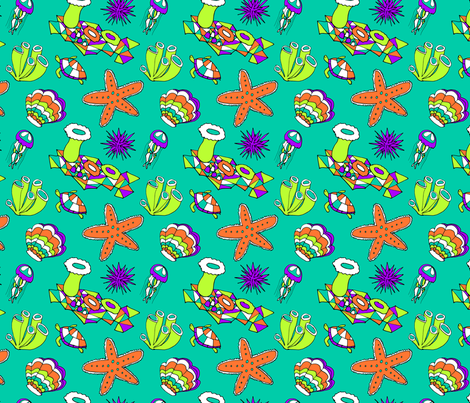 Sea Creatures fabric by audrey on Spoonflower - custom fabric