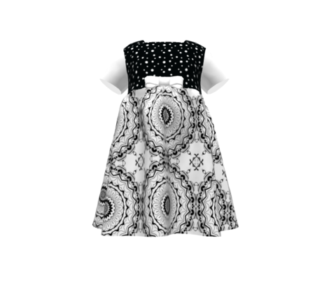 Black and white Nordic pattern . Mandala .