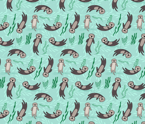 Significant Otters fabric by lellobird on Spoonflower - custom fabric