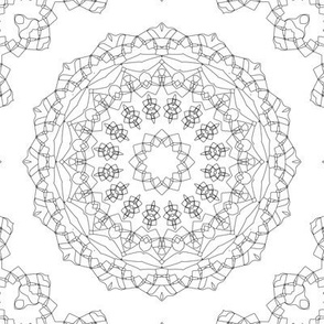 Black and white Nordic pattern . Mandala . mandala , black and white , Scandinavian , creative , round ornament , black , white monochrome , pen , ink
