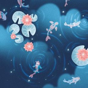 Koi pond - starry night