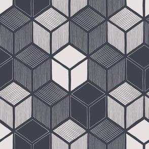 Hand Drawn Cubes 2