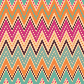 Retro chevron zigzag