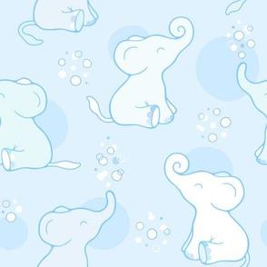 Bubbly baby elephant