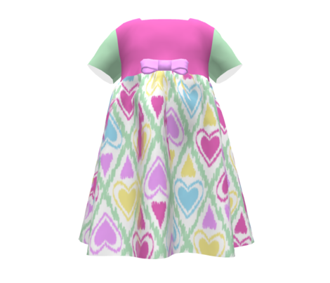 Ikat tribal bright seamless pattern with hearts. Great for kids design