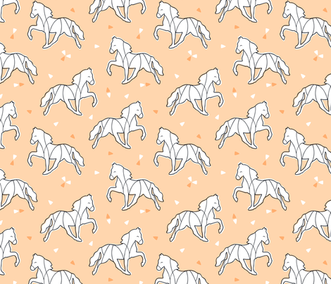 Horse outline fabric by nossisel on Spoonflower - custom fabric