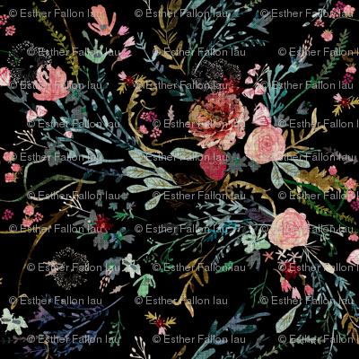 Fable  Floral (black)