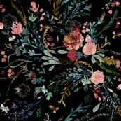 Fable Dark Floral (black)