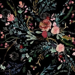 Fable  Floral (black) MED
