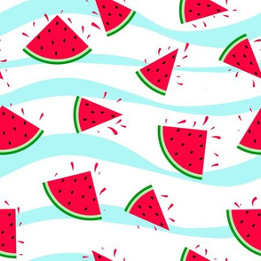 Watermelon seamless fresh summer pattern