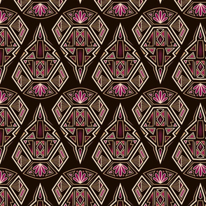 Antique Art deco ornament seamless pattern