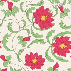 Floral chinese seamless pattern