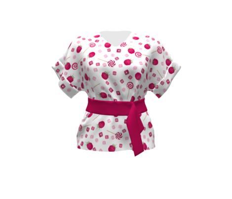 Raspberry sweets seamless pattern