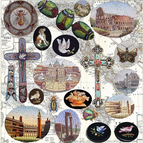 Omage to Italian Micro Mosaics; Full Sized