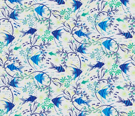 angelfish fabric by jill_o_connor on Spoonflower - custom fabric