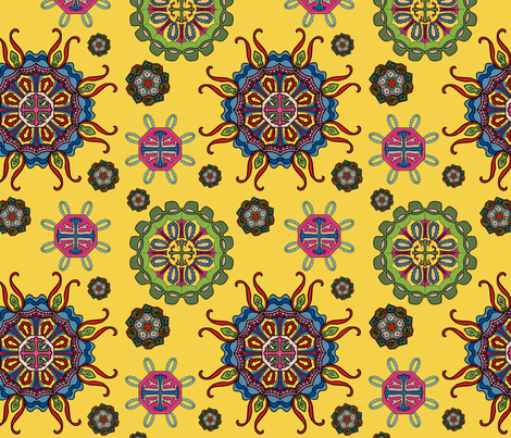 Modern Marine Microbes fabric by terrymcclary on Spoonflower - custom fabric
