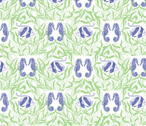 seaweed and reef fish fabric by karinka on Spoonflower - custom fabric