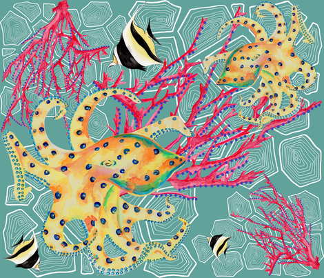 Great_Barrier_Reef fabric by jenesy_claire_designs on Spoonflower - custom fabric