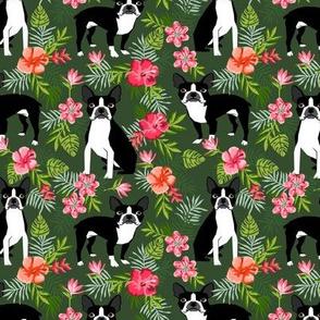 Boston Terrier hawaiian fabric