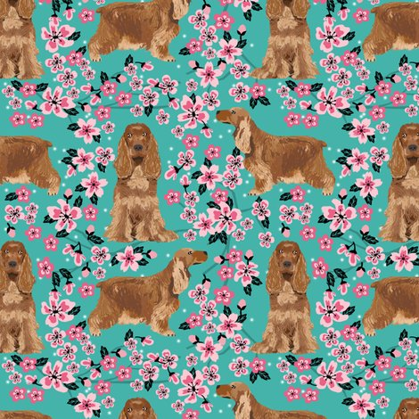Rcocker_spaniel_cherry_blossom_turquoise_shop_preview