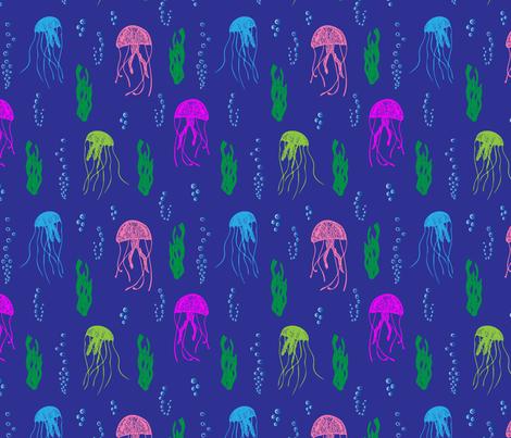 Jellyfish fabric by woolandtie on Spoonflower - custom fabric